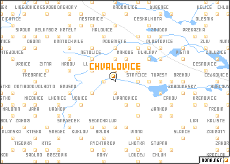 map of Chvalovice