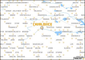 map of Chvalovice