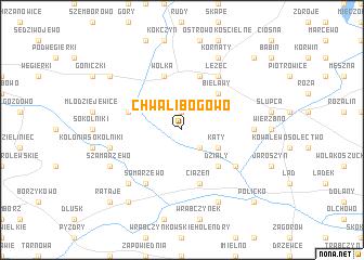 map of Chwalibogowo