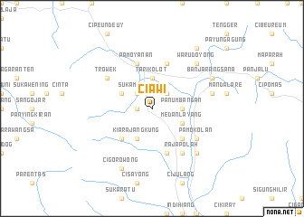 map of Ciawi