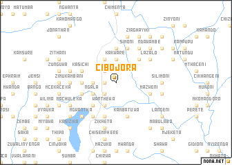 map of Cibojora