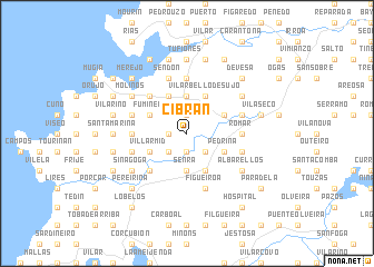 map of Cibrán