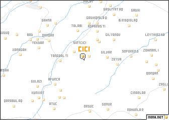 map of Çiçi