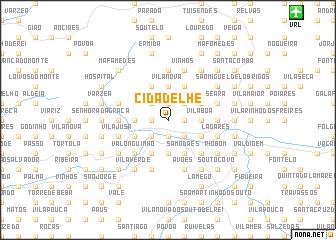 map of Cidadelhe