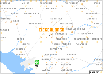 map of Ciego Alonso