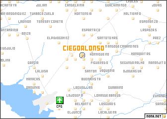map of Ciego Alonso