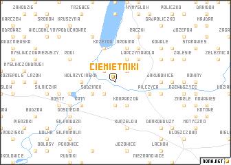 map of Ciemiętniki