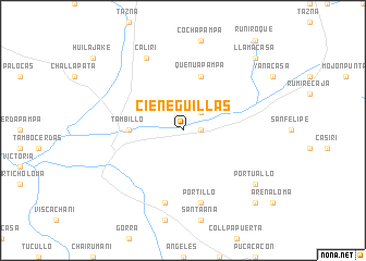map of Cieneguillas