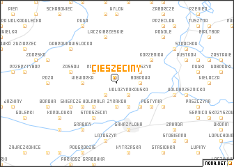 map of Cieszęciny
