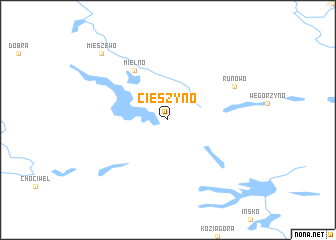 map of Cieszyno