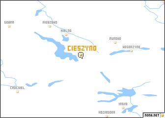 map of Cieszyno