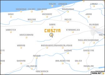 map of Cieszyn