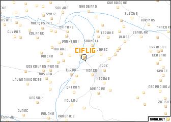 map of Çiflig