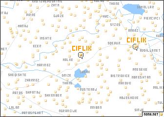 map of Çiflik