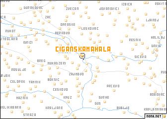 map of Ciganska Mahala