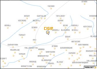 map of Çığır
