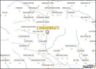 map of Cihaurbeuti