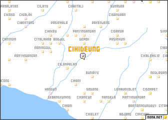 map of Cihideung