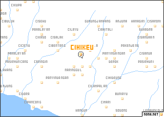 map of Cihikeu