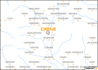 map of Cihonje