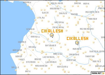 map of (( Çikallesh ))