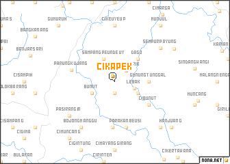 map of Cikapek