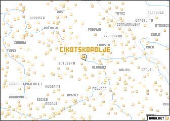 map of Cikotsko Polje