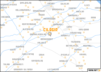 map of Çilǝgir