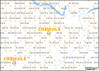 map of Cimo de Vila