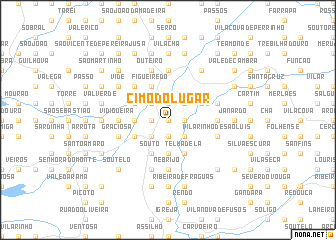 map of Cimo do Lugar