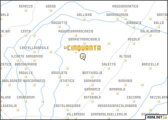 map of Cinquanta