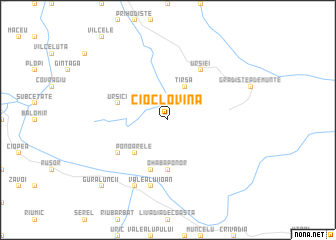 map of Cioclovina