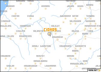map of Ciomas