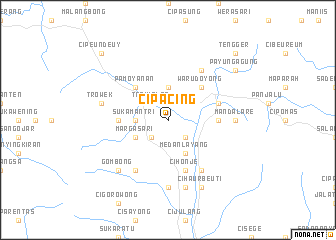 map of Cipacing