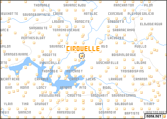 map of Cirouelle