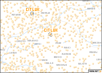 map of Čitluk