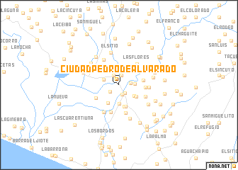 map of Ciudad Pedro de Alvarado