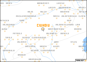 map of Ciuhoiu