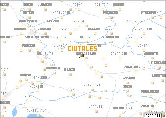map of Čiūtalės