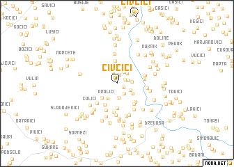 map of Ćivčići