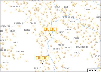 map of Čivčići