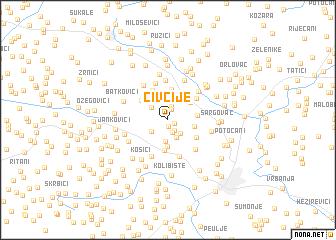 map of Čivčije