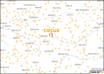 map of Čivčije