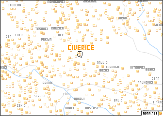 map of Čiverice