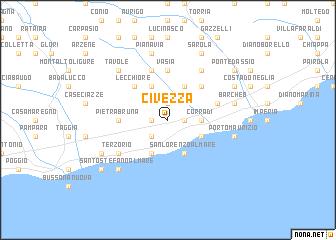 map of Civezza