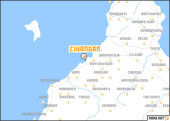 map of Ciwandan