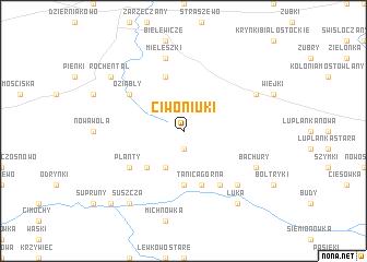 map of Ciwoniuki