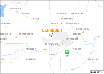 map of Claredon
