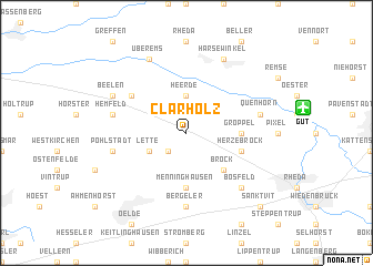 map of Clarholz