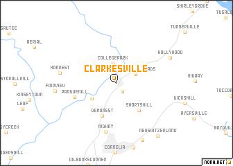 map of Clarkesville